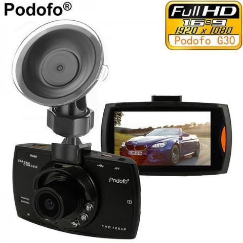 """Podofo Автомобильный видеорегистратор Podofo G30 2.7 """"Full HD 1080 P"""