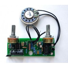 Металлоискатель ПИРАТ, плата собранная, с 2 резисторами.