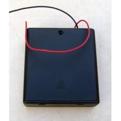 Держатель батарей (4хАА) с выключателем и крышкой