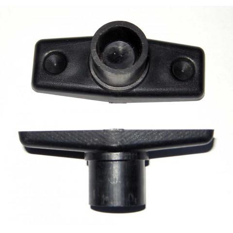 Крепление  для блока электроники на штангу металлодетектора (металлоискателя, металошукача.)